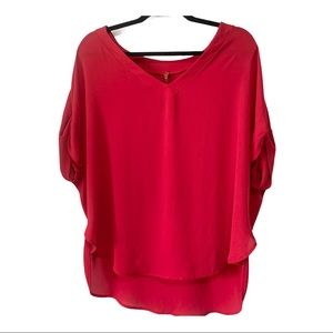 Imperial Made in Italy V-Neck Flowy Top